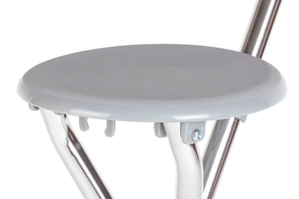 3411-000 Bastón Ortopédico Con Asiento Plegable - Asiento Circular