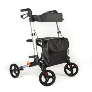 Andador ortopédico plegable premium 4 ruedas con asiento